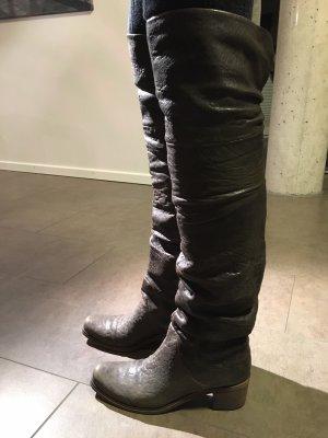 VIC MATIÉ Overknee-Stiefel in dunkelbraun