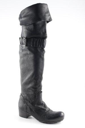 Vic Matie Overknees schwarz Casual-Look