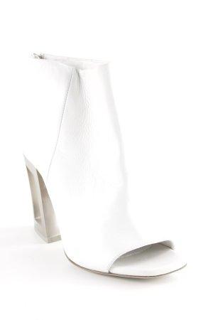Vic Matie Reißverschluss-Stiefeletten weiß Urban-Look