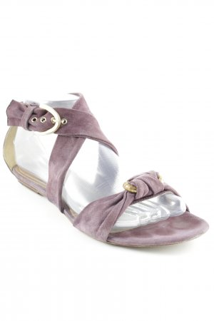 Vic Matie Strapped Sandals grey lilac simple style