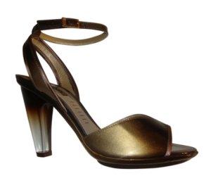 Vic Matie Riemchenpumps Peeptoes mit Plateau gold silber bronze Gr. 37 neu