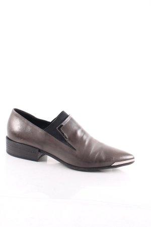 Vic Matie Schlüpfschuhe grau-silberfarben klassischer Stil