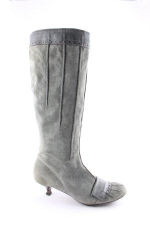 Vic Matie Stiefel petrol Street-Fashion-Look