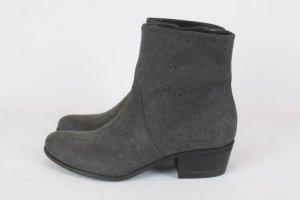 VIC MATIE Stiefelette Ankle Boots Gr. 36 grau Leder NEU (18/12/K)