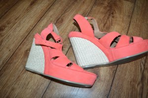 Vic Matié - Tolle Riemchen Wedges/Keilsandalen Orange Wildleder - Gr. 39