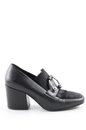 Vic Matie Loafers zwart casual uitstraling