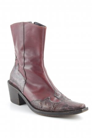 Vic Matie Western Booties brown-bordeaux street-fashion look