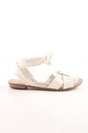 vic Roman Sandals natural white casual look