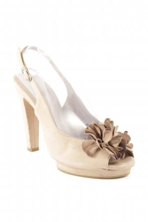 vic Slingback-Pumps hellbraun Casual-Look