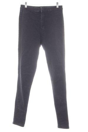 Vice Jeans a vita alta nero stile semplice