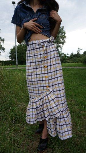 Falda midi multicolor