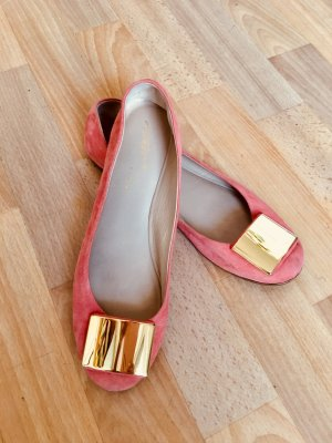 Vicini Mary Jane Ballerinas salmon-apricot
