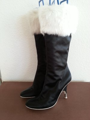 Vicini Fur Boots white-black