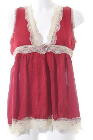 Vicolo Haut évasé en bas crème-rouge brique style romantique