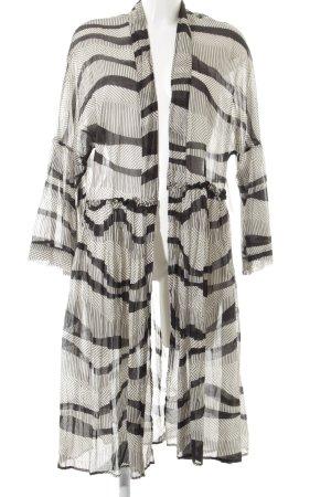 Vicolo Blouse Jacket black-oatmeal mixed pattern street-fashion look