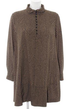 Vicolo Abito blusa marrone-color carne motivo grafico stile casual