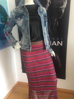 Vicolo Designer maxirock mit LA Shirt Leder Optik small