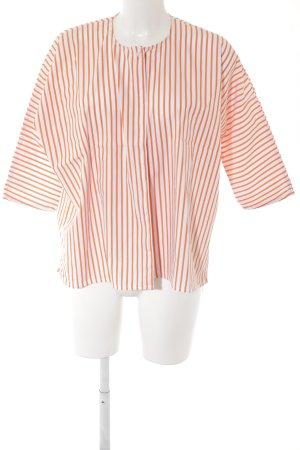Vicolo Hemd-Bluse weiß-orange Streifenmuster Casual-Look