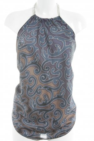 Vicolo Halter Top light brown-steel blue elegant