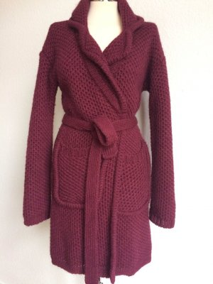 VICOLO Northland Strick Jacke/Mantel bordeaux Wolle