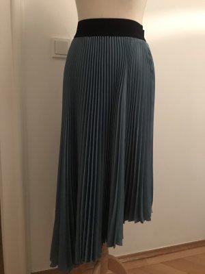 Vicolo Pleated Skirt black-cornflower blue