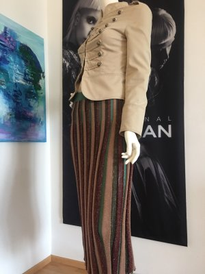 Vicolo Plisseerock lurex Military Italian  Designer Jacke & Hallhuber Shirt small