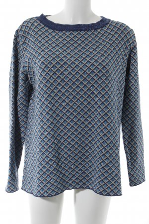 Vicolo Rundhalspullover grafisches Muster Casual-Look