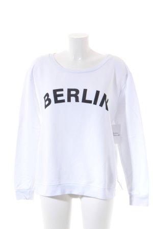 Vicolo Sweatshirt schwarz-weiß Schriftzug gedruckt Street-Fashion-Look