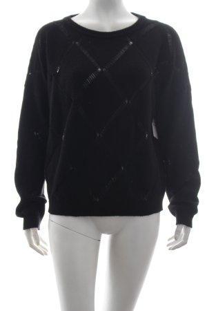 Vicolo Wollpullover schwarz schlichter Stil