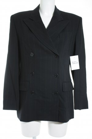Victor Victoria Pinstripe Suit black-dark yellow pinstripe business style