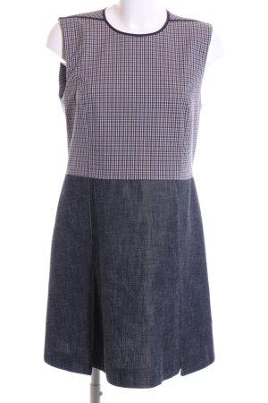 Victoria Beckham A-Linien Kleid blau-weiß Karomuster Casual-Look