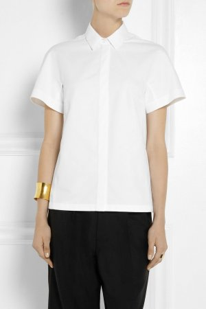 Victoria Beckham Bluse Weiß 36 Baumwolle Blouse Shirt No 007 White Cotton Top S