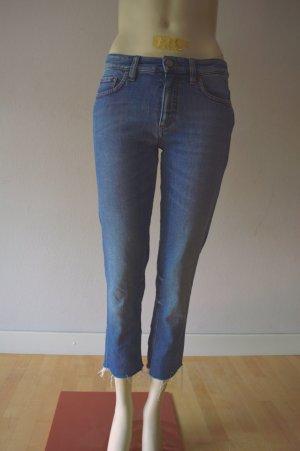 Victoria Beckham 7/8 Length Jeans cornflower blue cotton