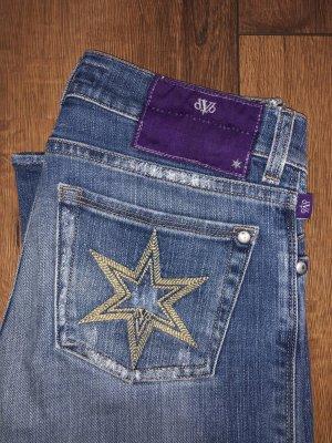 Victoria Beckham Jeans vita bassa multicolore