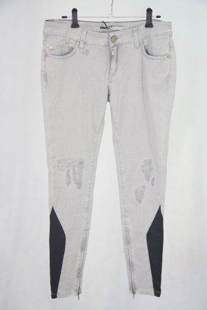 Victoria Beckham Skinny jeans grijs Katoen