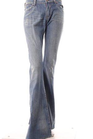 Victoria Beckham Jeans a zampa d'elefante blu Cotone
