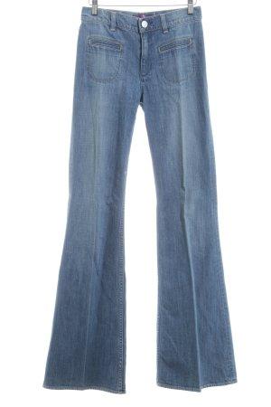 Victoria Beckham Jeansschlaghose dunkelblau Jeans-Optik