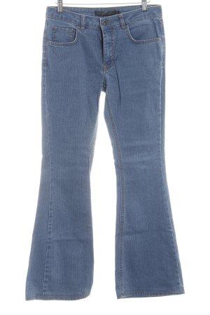 Victoria Beckham Jeansschlaghose stahlblau 80ies-Stil