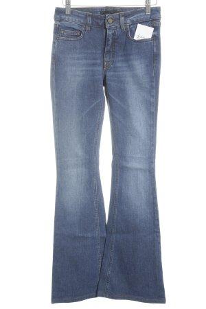 Victoria Beckham Jeansschlaghose stahlblau klassischer Stil