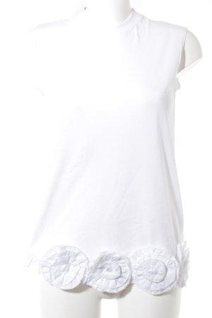 Victoria Beckham Lange top wit simpele stijl