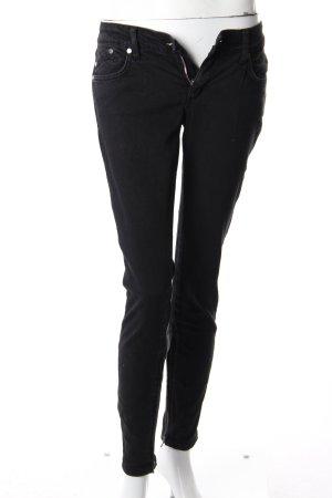 Victoria Beckham Skinny Jeans Leder-Applikation