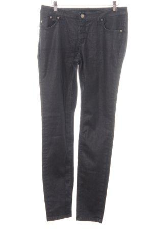 Victoria Beckham Slim Jeans dunkelblau-silberfarben Casual-Look