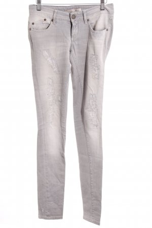 Victoria Beckham Slim Jeans silberfarben-grau Urban-Look