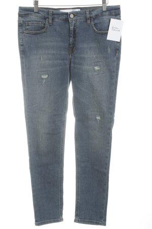 Victoria Beckham Slim Jeans stahlblau Casual-Look