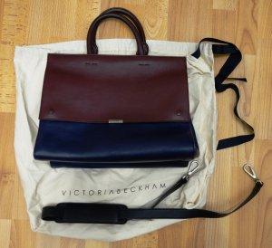 Victoria Beckham Soft Tote Messenger Bag Designer Tasche bordeaux - navy Blogger