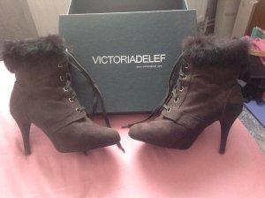Victoria delef Bottines à lacets brun faux cuir