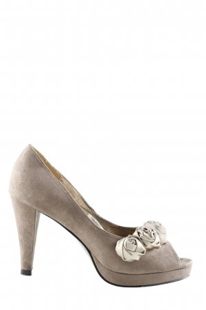Victoria delef Peep Toe Pumps wolwit casual uitstraling