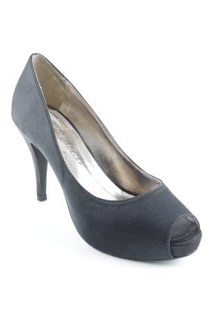 Victoria delef Peeptoe Pumps schwarz extravaganter Stil