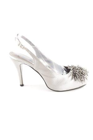 Victoria delef Slingback pumps lichtgrijs-zilver elegant