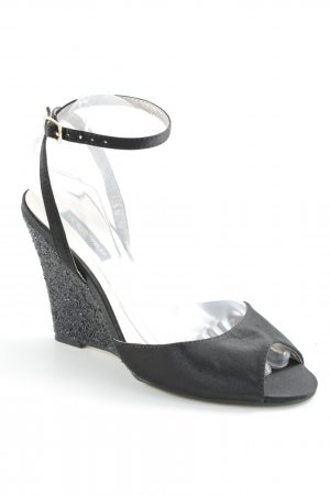 Victoria delef Wedge Sandals black elegant